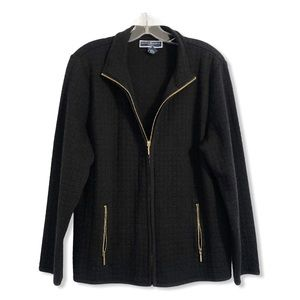 Karen Scott Sport Women's Jacket Size Large Full Zip